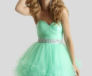ruffled short party dress image