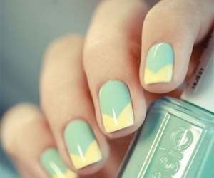 nails, yellow, and essie image