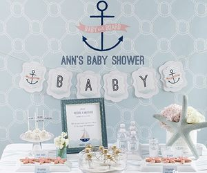 baby, favors, and nautical image