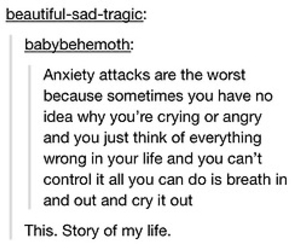 anxiety, life, and cry image