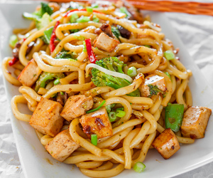 chinese, noodles, and tofu image
