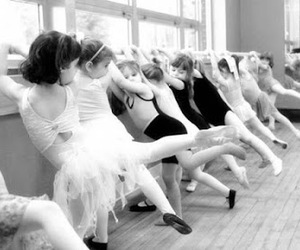 ballerina, black and white, and cute image