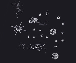 background, planets, and instagram image