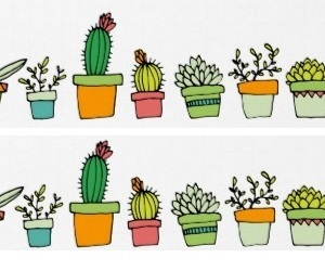 cacti, cactus, and doodle image