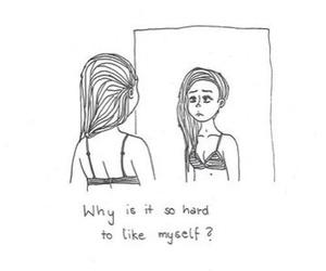 sad, myself, and quotes image
