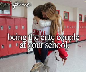cute, couple, and school image