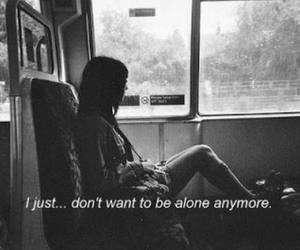 black and white, depressed, and girl image