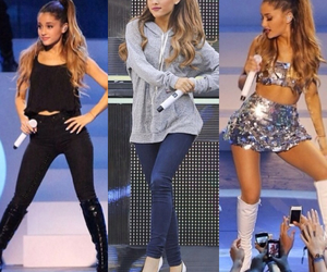 ariana grande, girl, and ombre image