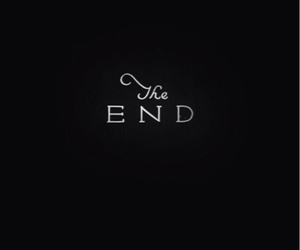 the end, wallpaper, and black image