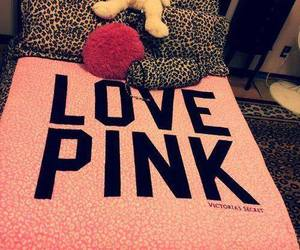pink, bed, and love pink image