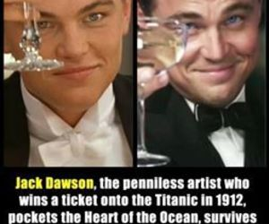leonardo dicaprio, titanic, and jack dawson image