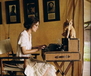cat, keira knightley, and vintage image