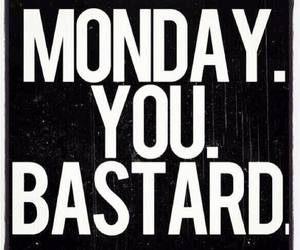 monday, bastard, and quote image