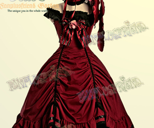 ball gown, black, and dress image