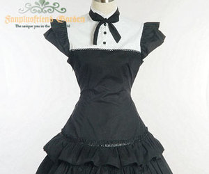 black, gothic lolita, and clothes image