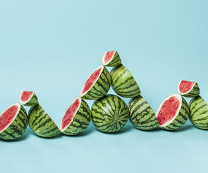 watermelon, photography, and triangle image