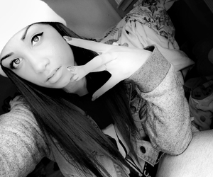 beanie, bw, and fashion image