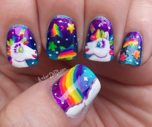 unicorn, nails, and nail art image