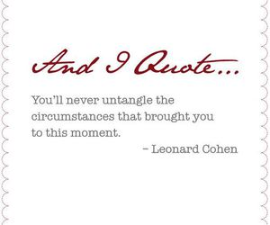 leonard cohen and quote image