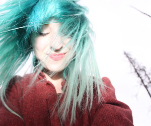 blue hair, girl, and pretty image