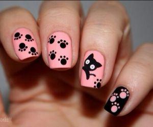 black, pink, and nail image