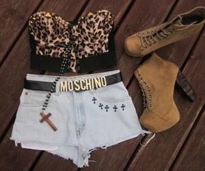fashion, shoes, and Moschino image
