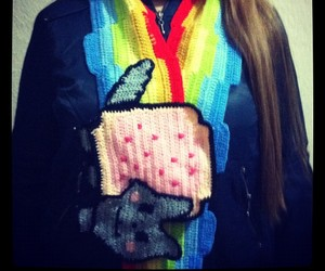 games, knit, and nyan cat image