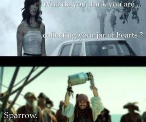 funny, jack sparrow, and jar of hearts image
