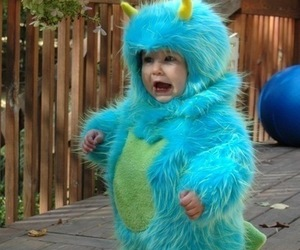 cute, baby, and monster image