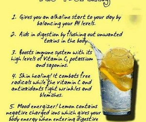 drink, health, and lemon image