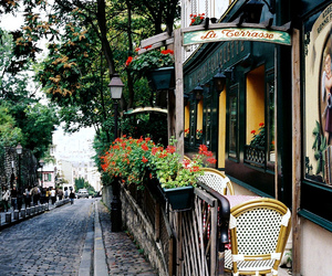 paris, cafe, and street image