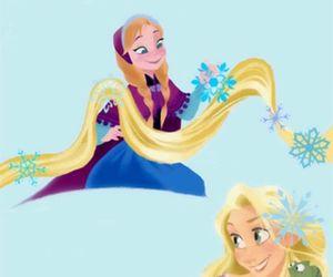 anna, rapunzel, and elsa image