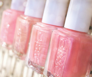 pink, essie, and nail polish image