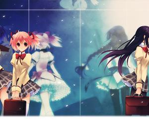 anime, akemi homura, and kaname madoka image