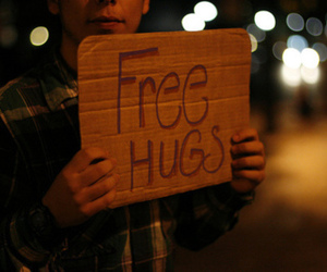 hug, free hugs, and boy image