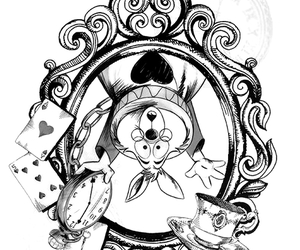 alice, wonderland, and white rabbit image