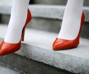 *-*, high heels, and red image