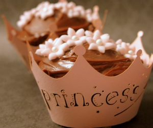 princess, cupcake, and chocolate image
