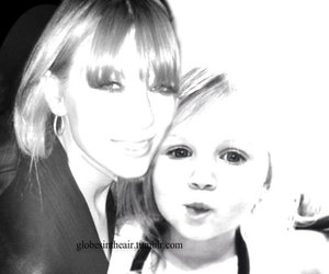 adorable, baby lux, and mom image