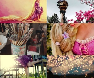 Collage, girly, and rapunzel image
