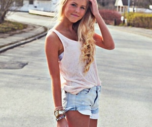 blonde, girl, and shorts image