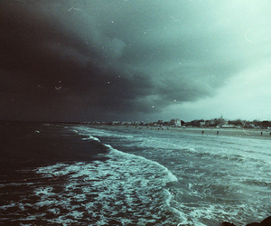 sea, beach, and grunge image