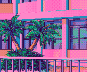 pink, summer, and trees image