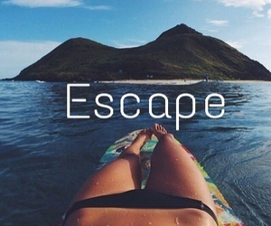 summer, escape, and girl image