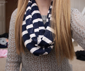 scarf, clothes, and stripes image