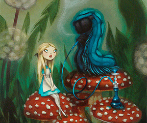 alice, draw, and caterpillar from alice image