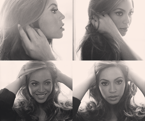 adorable, beyonce knowles, and black and white image