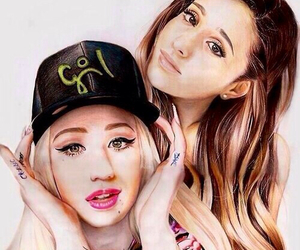 ariana grande, iggy azalea, and drawing image