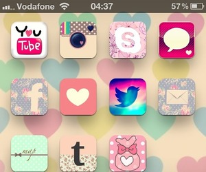 cute, iphone, and girly image