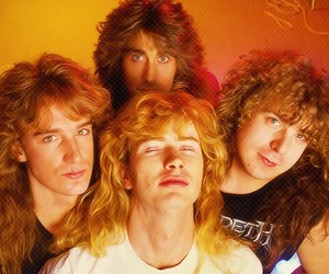 dave mustaine, megadeth, and david ellefson image